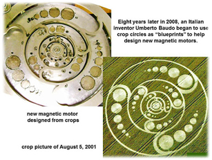 Umberto Crop Circle Blue Print Free Energy Device